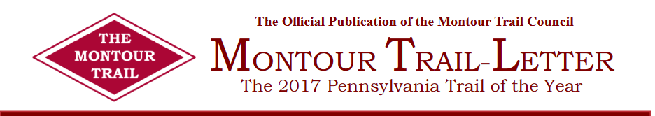 The Montour Trail-Letter is the official publication of the Montour Trail Council.