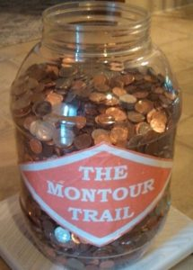 "Volunteers collect ""Pennies for the Trail"" annually, which, in turn, supports volunteer work to keep the pathway in excellent condition."
