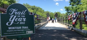The Montour Trail is Pennsylvania's 2017 Trail of the Year.