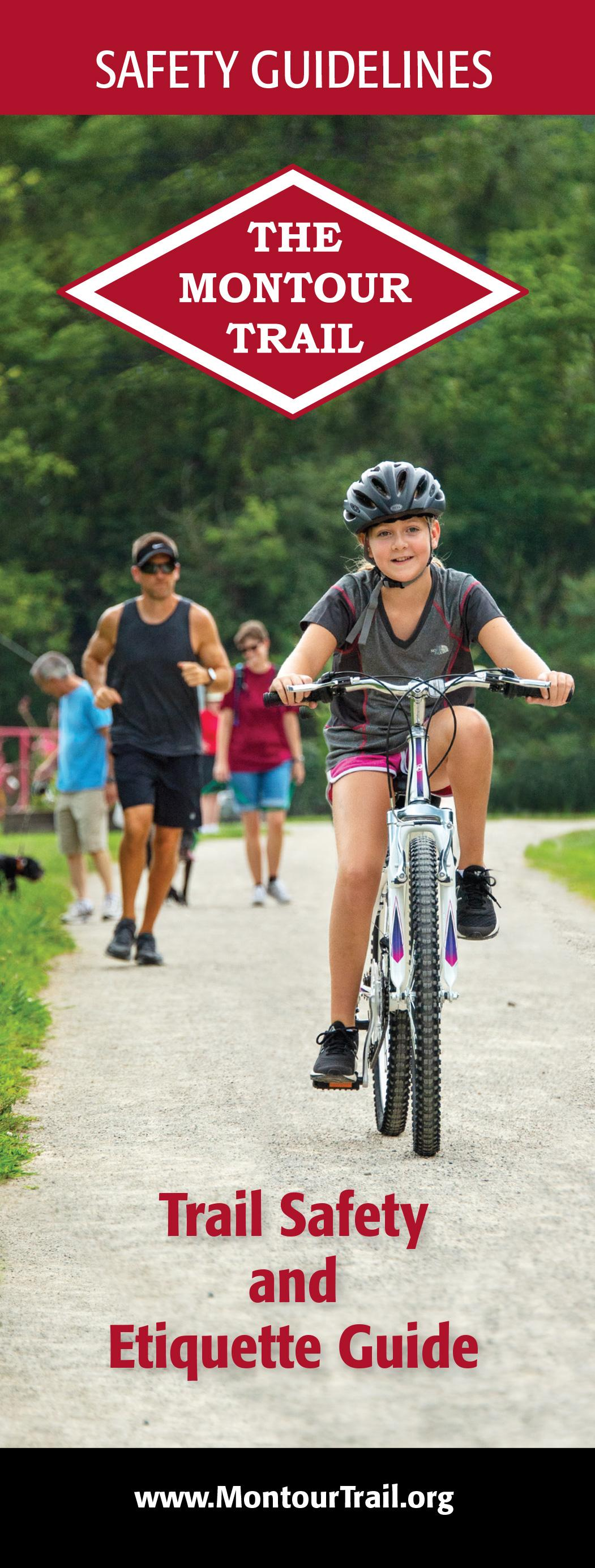 The Montour Trail Safety and Etiquette Guide is available at trailheads and access areas.